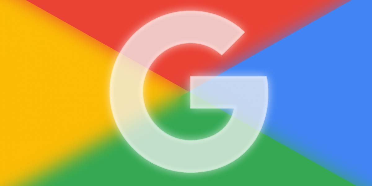 Logotipo de Google con fondo color