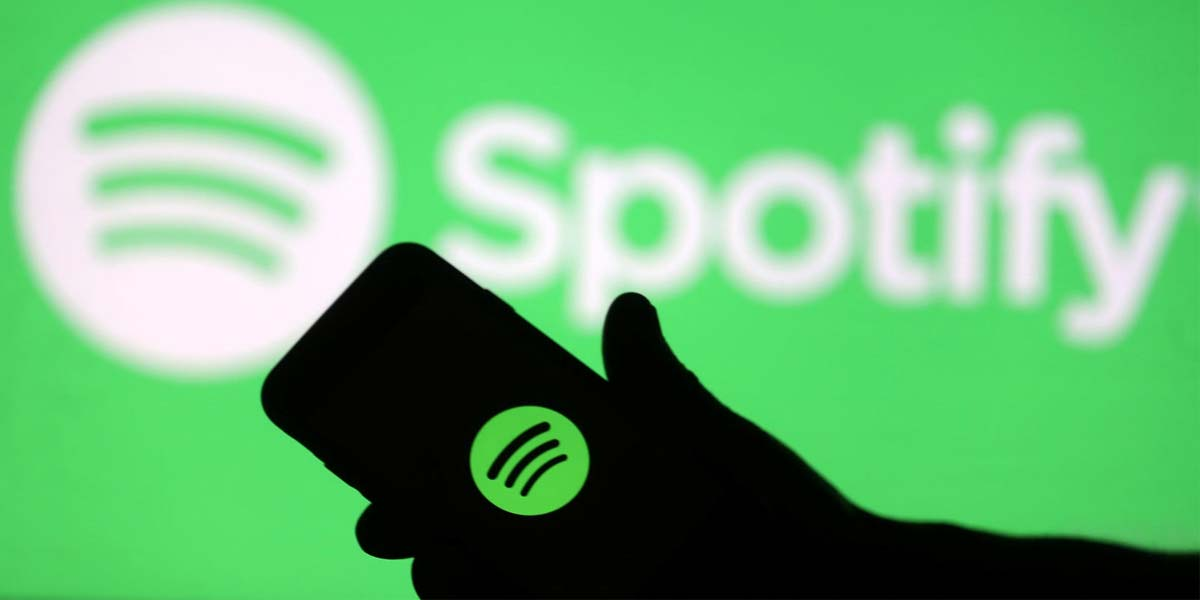 Logotipo de Spotify en un smartphone