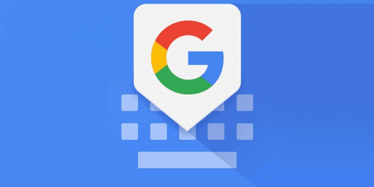 Logotipo del teclado de Google con fondo azul