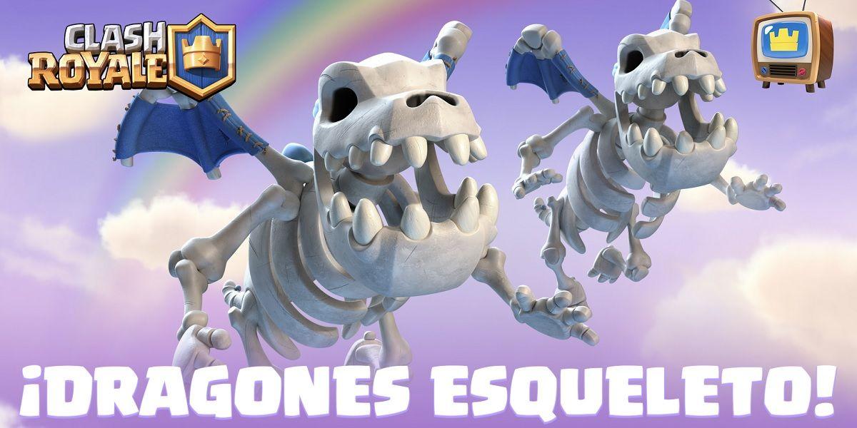 Los Dragones esqueleto, la nueva carta comun de Clash Royale