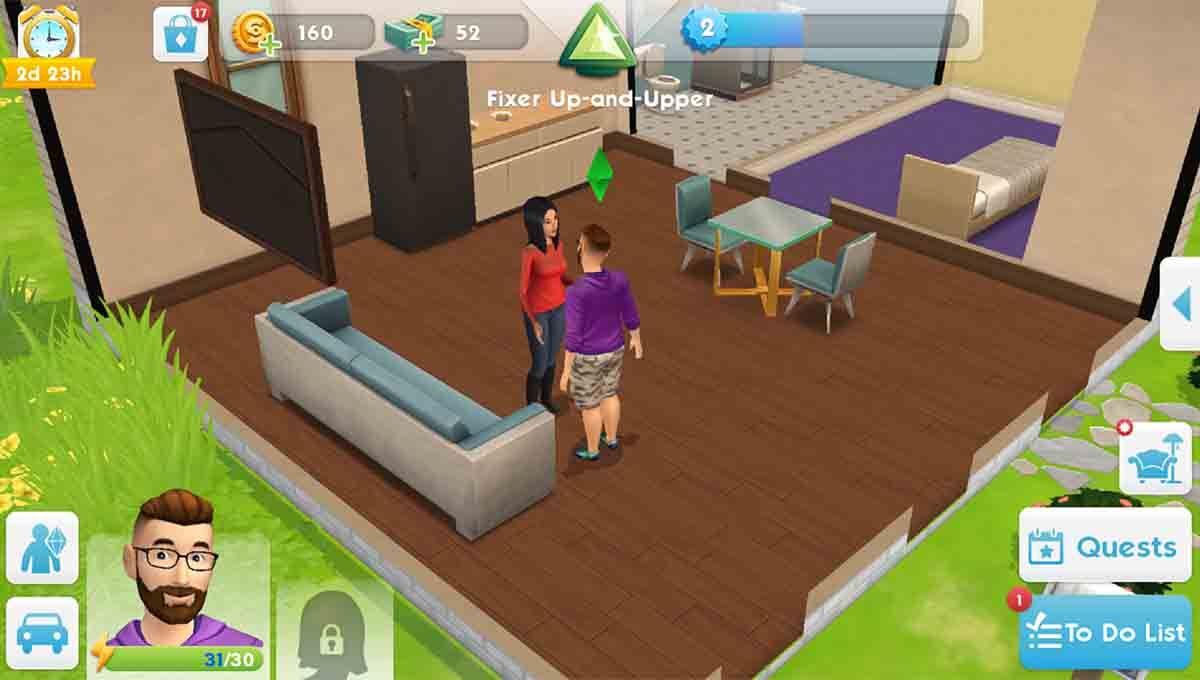 Los Sims juego decorar casas
