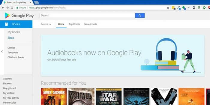 Los audiolibros llegan a la Google Play