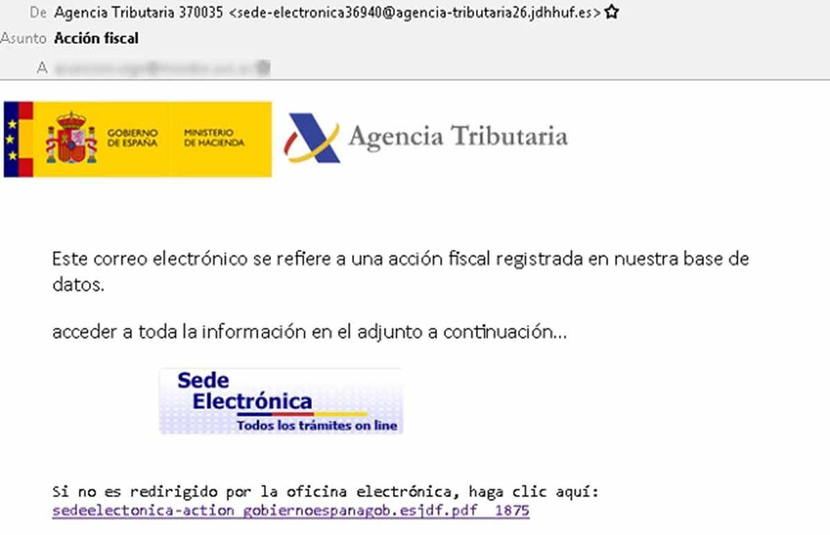 Los hackers se están haciendo pasar por Hacienda con un email para robar tus datos
