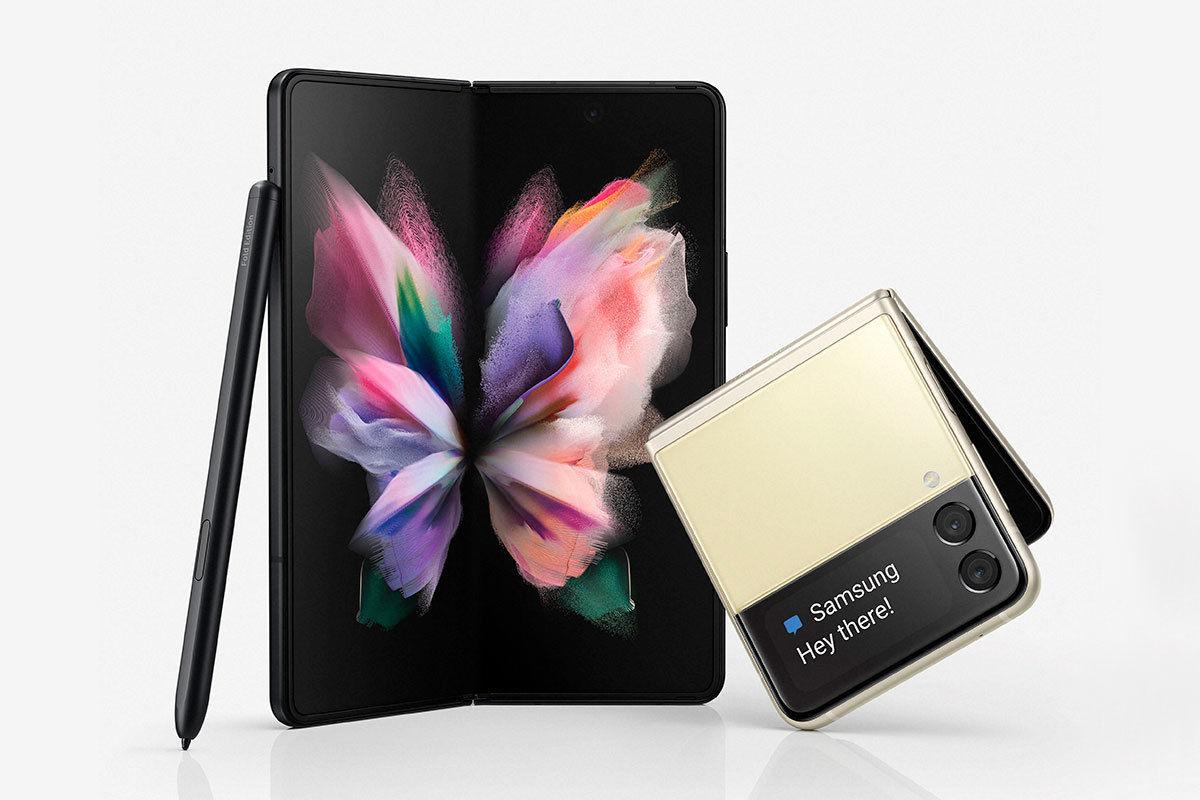 Los nuevos modelos de móvil plegable Samsung Galaxy Z Flip 3 y Z Fold 3 5G para alquilar a cuotas mensuales