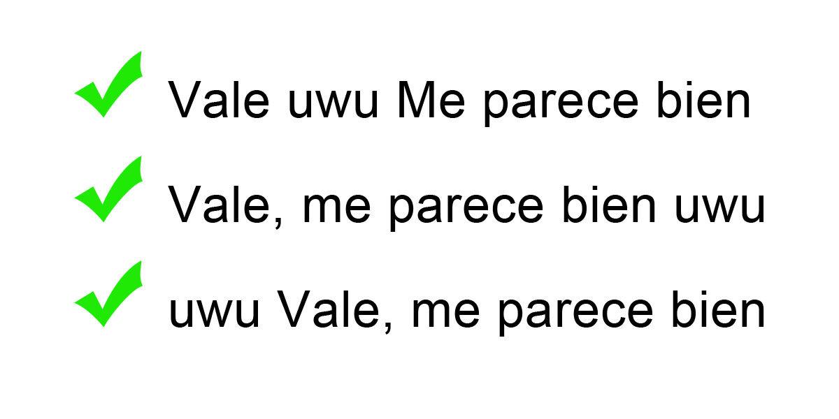 Los usos correctos de uwu en los mensajes de chat