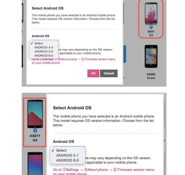 Móviles LG que actualizarán a Android 6.0 Marshmallow