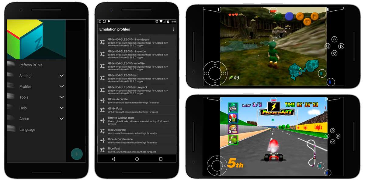 M64Pluz FZ mejor emulador nintendo 64 android