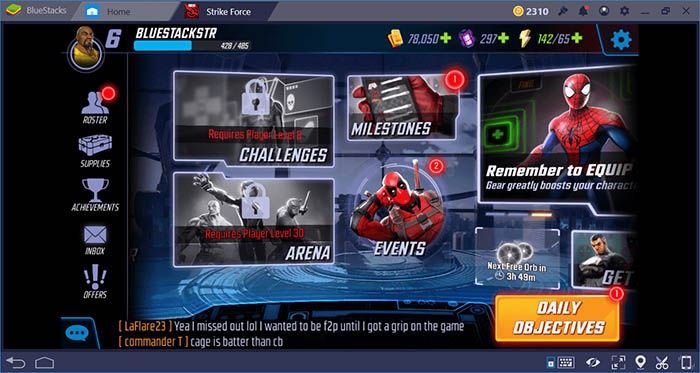 MARVEL Strike Force capturas BlueStacks 4