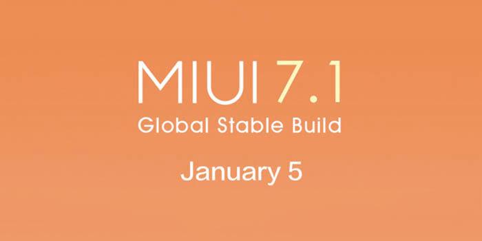 MIUI 7.1 lanzamiento