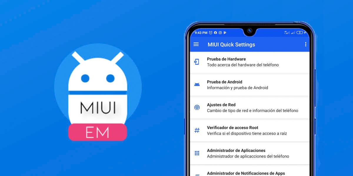 MQS la aplicación para acceder fácilmente de los ajustes ocultos de MIUI