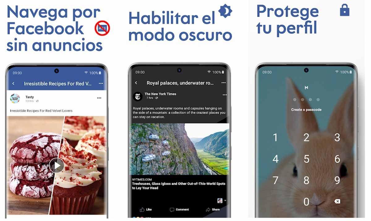Maki app no oficial para usar Facebook