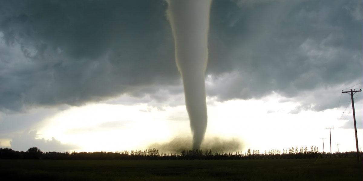 Tornado que da notificación por mal tiempo