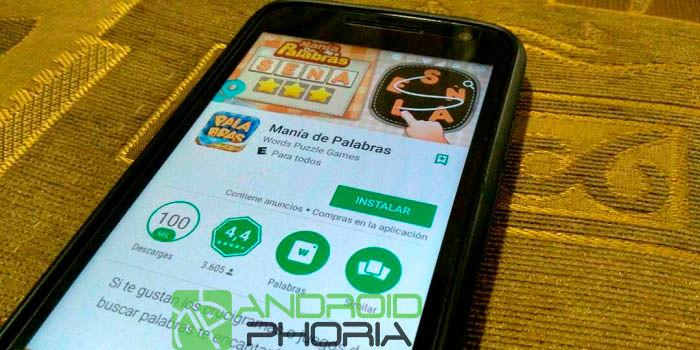 Manía de Palabras juego para Android