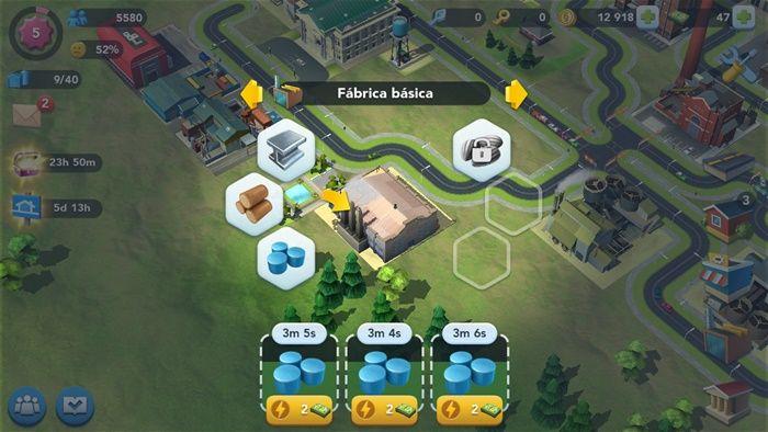 Mantener fabricas de Sim City BuildIt siempre trabajando