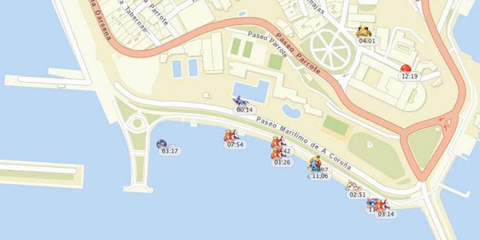 Mapa Pokemon en tiempo real