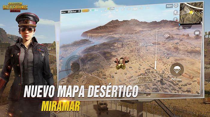 Mapa desierto PUBG Mobile
