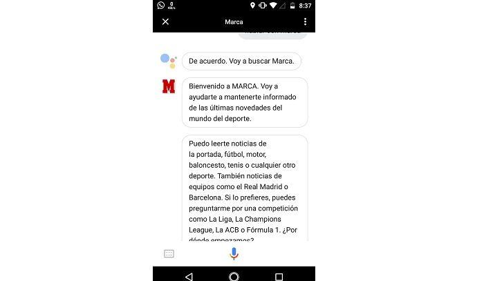 Marca en Google Assistant