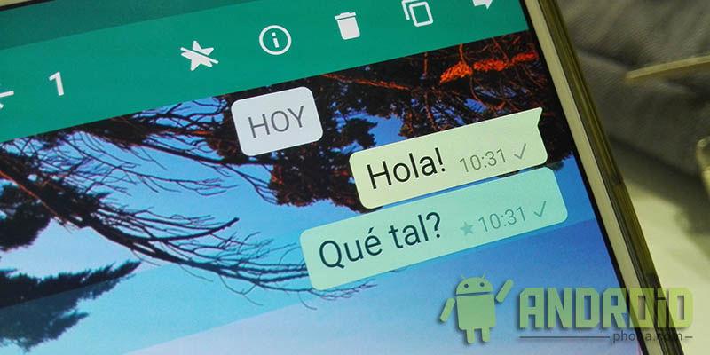 Marcar mensajes WhatsApp
