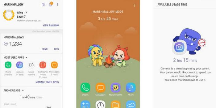 Marshmallow la app para control parental creada por Samsung
