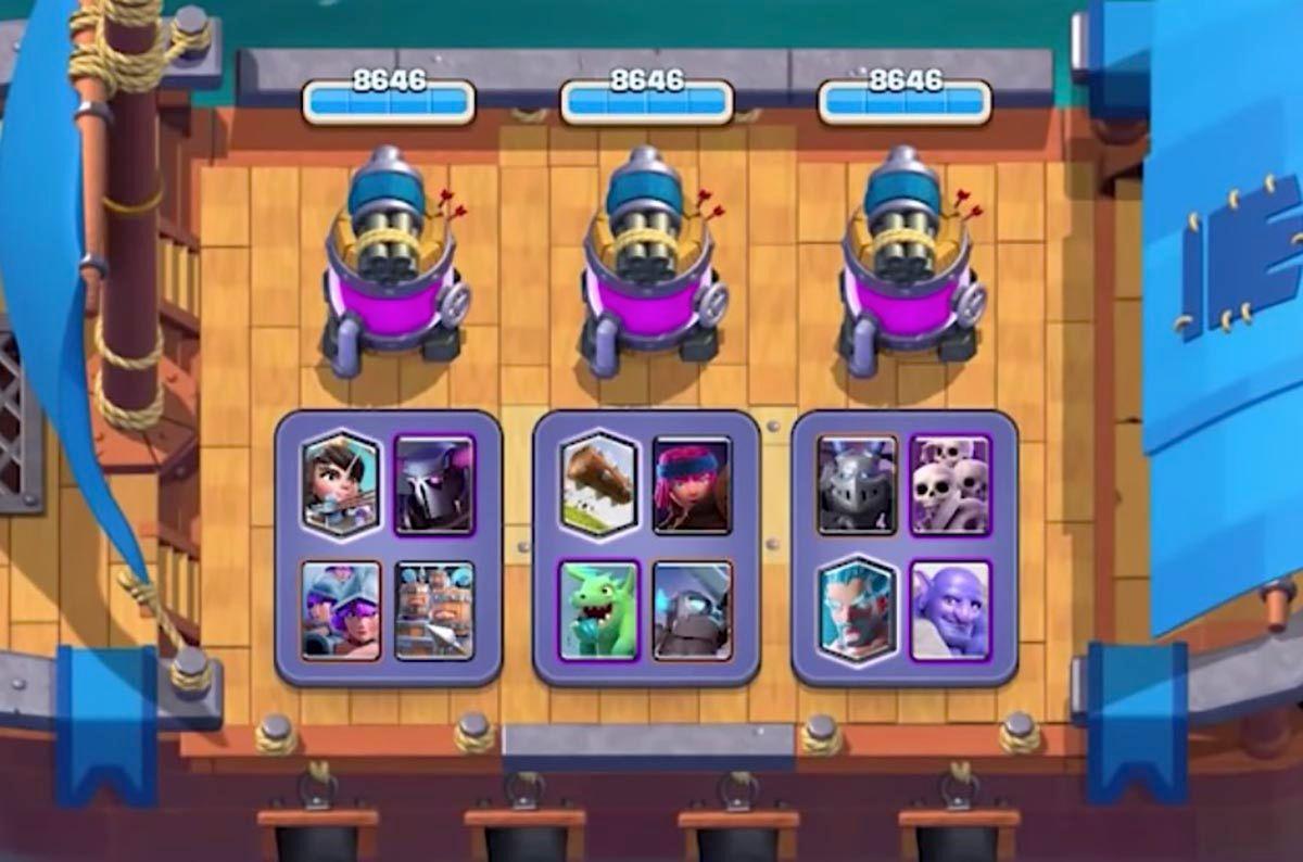 Mazos defender barco Clash Royale