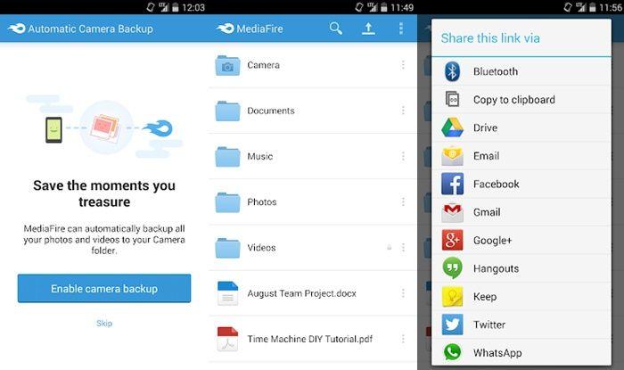 Mediafire Aplicación para android