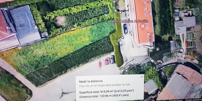 Medir metros cuadrados en Google Maps