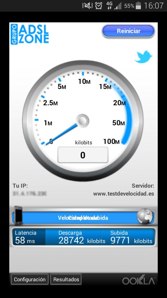 Medir velocidad 4G en Android