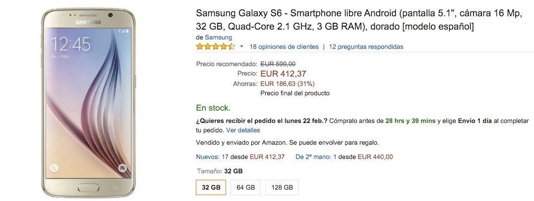 Mejor momento para comprar Galaxy S6