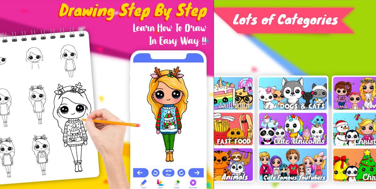 Mejora tu dibujo con estas 5 apps para aprender el estilo de dibujo Kawaii para artistas