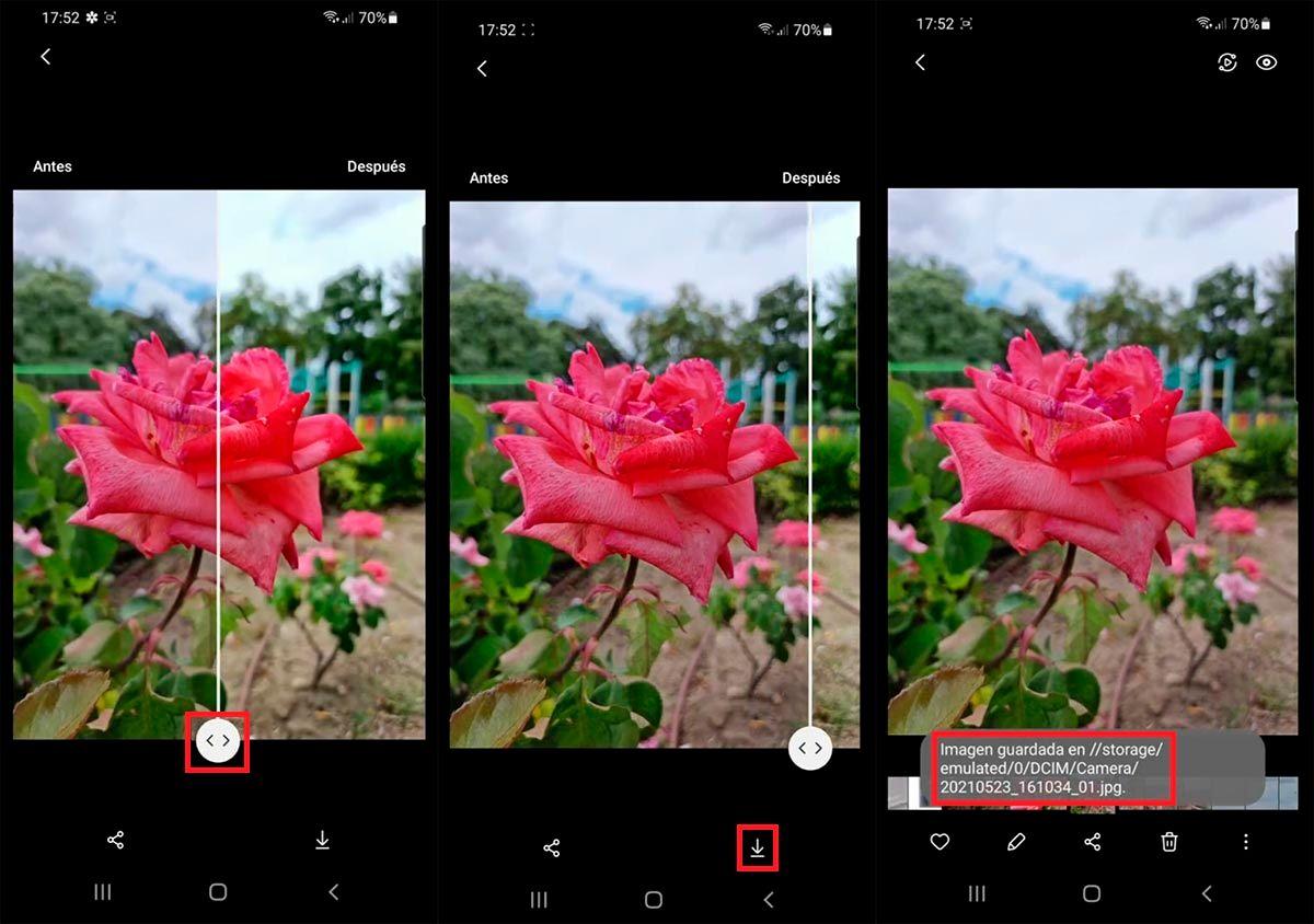 Mejorar imagen Galeria Samsung