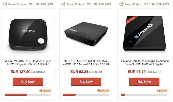 Mejores TV Box de oferta en GeekBuying