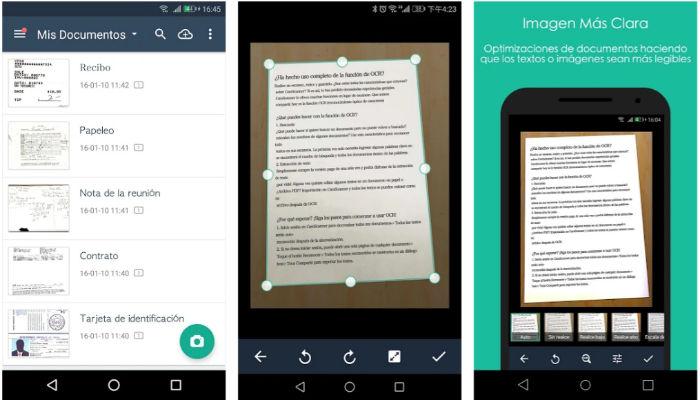 Mejores aplicaciones Android para escanear