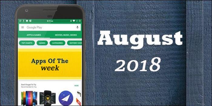 Mejores aplicaciones de la semana agosto de 2018