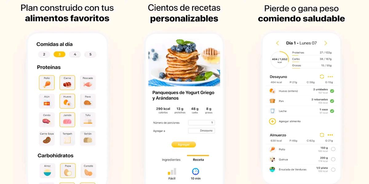 Mejores apps para comer sano. Fitia