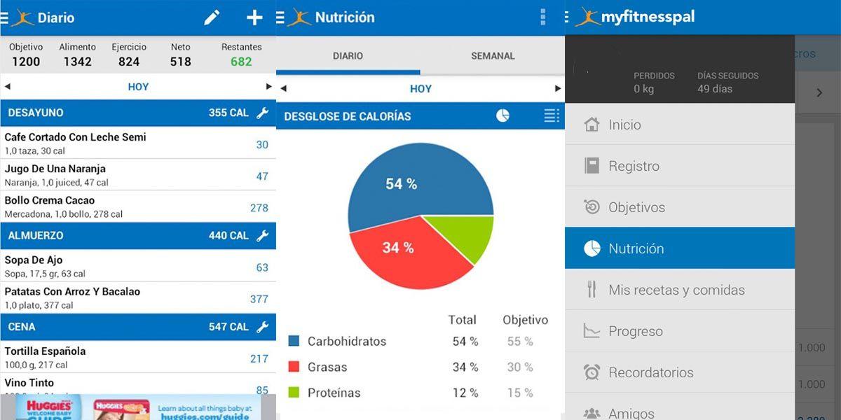 Mejores apps para comer sano. Myfitnesspal