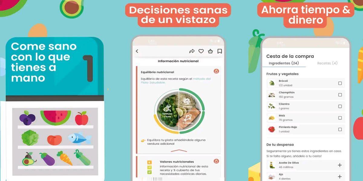 Mejores apps para comer sano. Nooddle