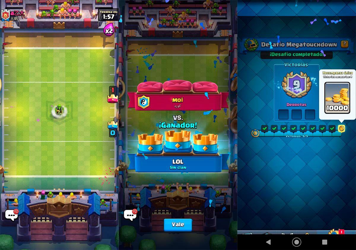 Mejores mazos para ganar el desafio de Megatouchdown Clash Royale