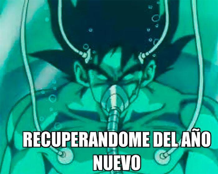 Meme Goku Año Nuevo 2021