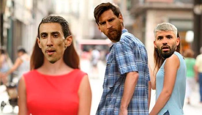 Meme Messi PSG Kun Aguero