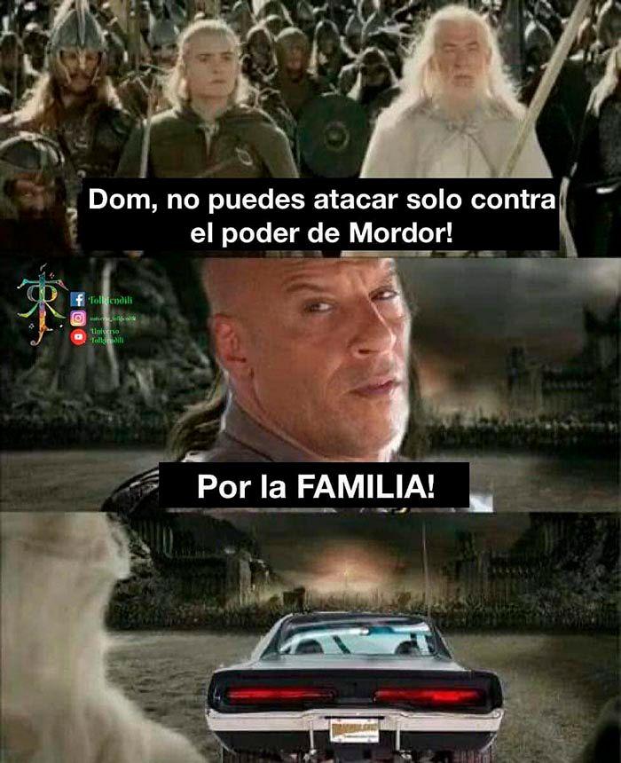 Meme Toretto familia El señor de los anillos