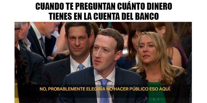 Meme Zuckerberg banco