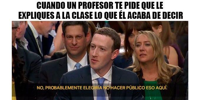 Meme Zuckerberg profesor