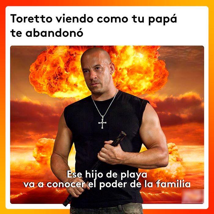 Meme de Dominic Toretto familia