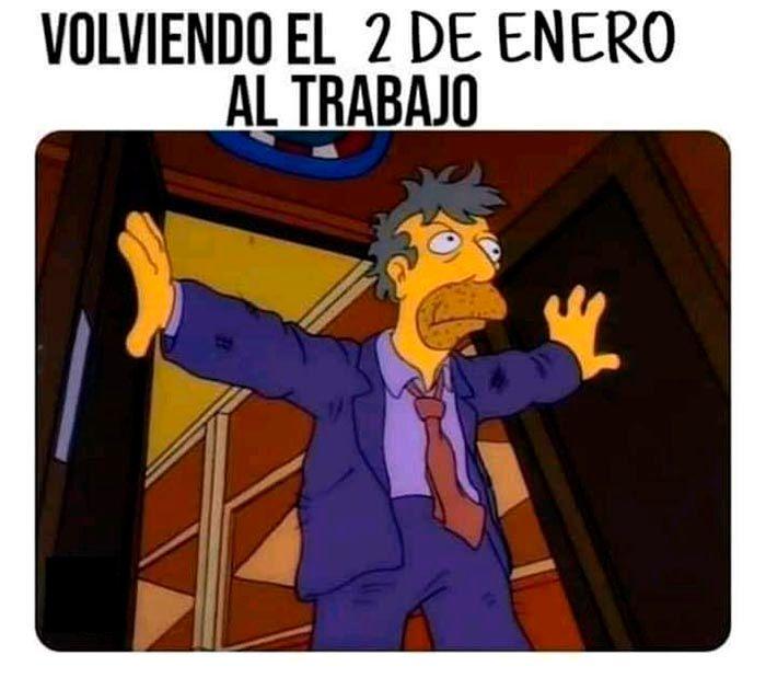 Meme de Los Simpson Año Nuevo 2021
