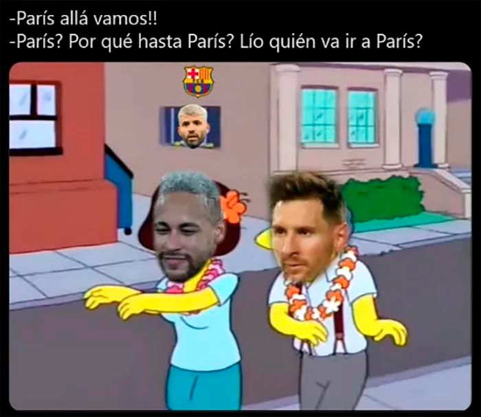 Meme de Messi y Kun Aguero Barcelona