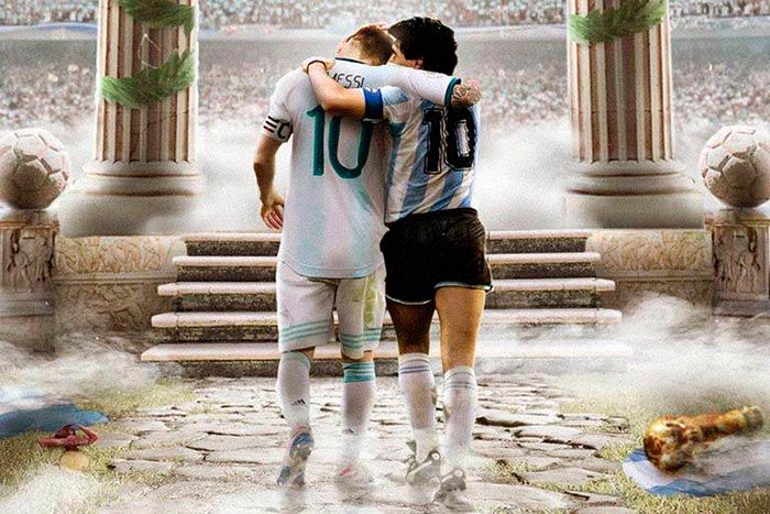 Meme de Messi y Maradona copa america 2021