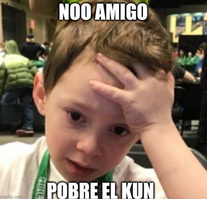 Meme de Messi y el Kun