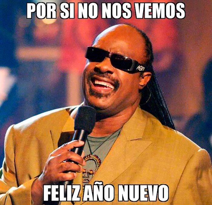 Meme de Stevie Wonder Año nuevo