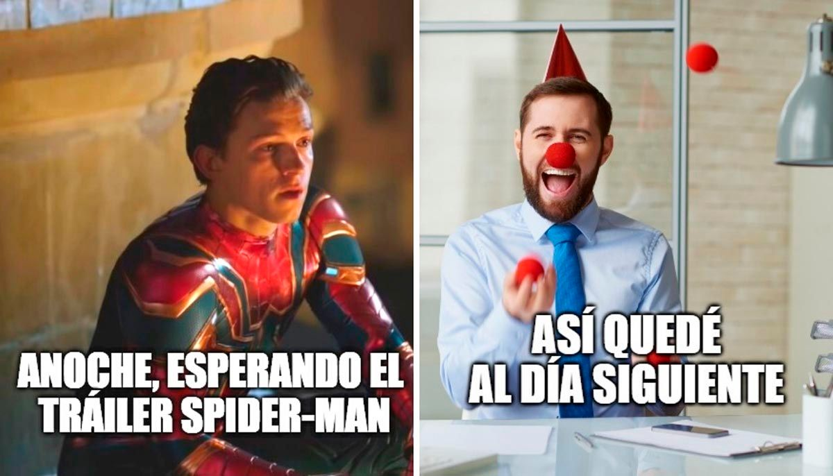 Meme del trailer de Spider Man No Way Home