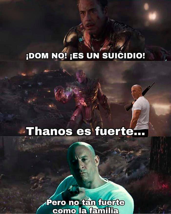 Meme familia Toretto Vengadores